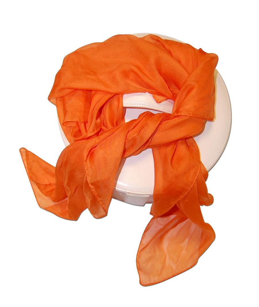 Pañuelo Naranja Tipo Foulard Uniformes De Azafatas