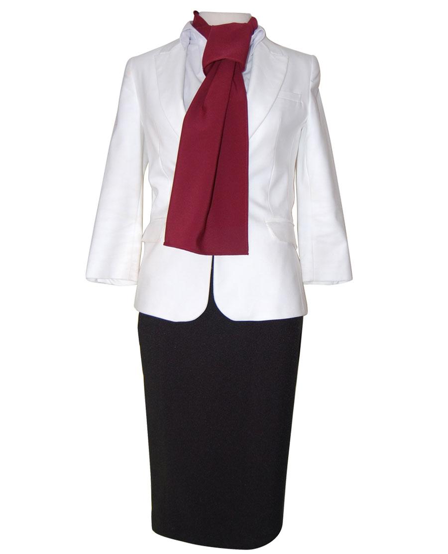 uniforme chaqueta blanca