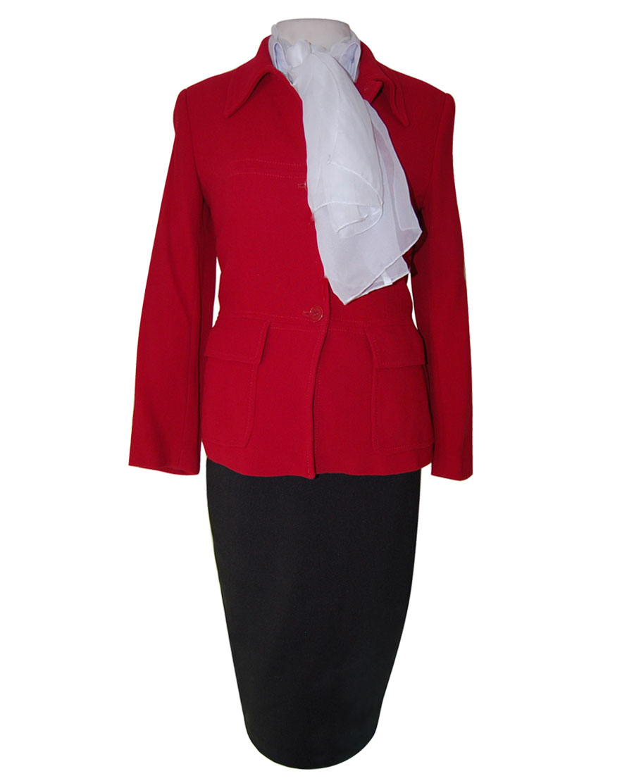 uniforme azafata chaqueta roja