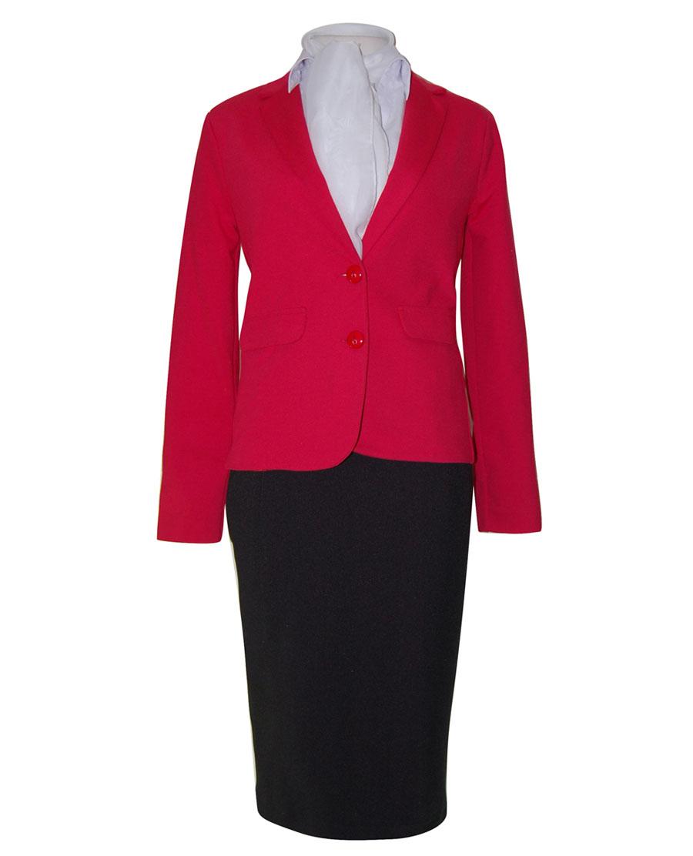 Uniforme de congresos chaqueta roja