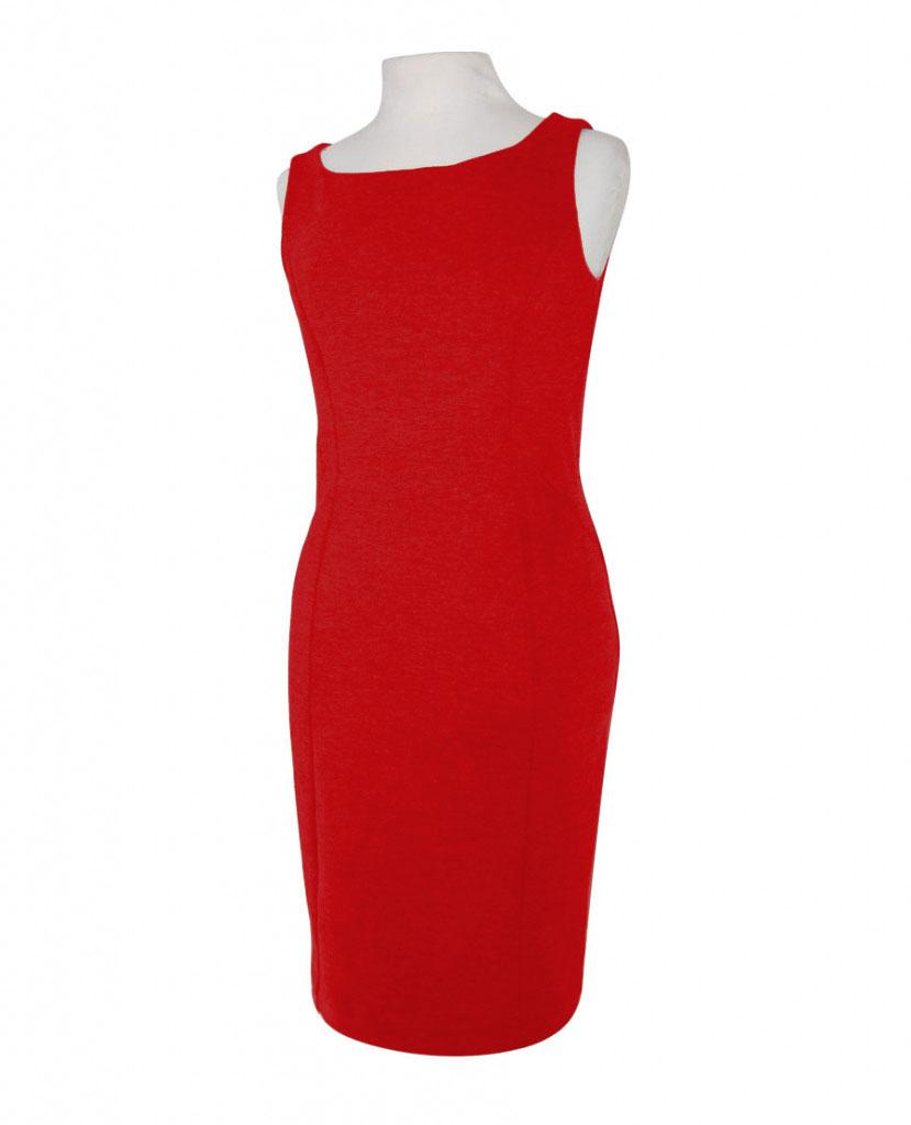 Vestido Rojo Sin Mangas