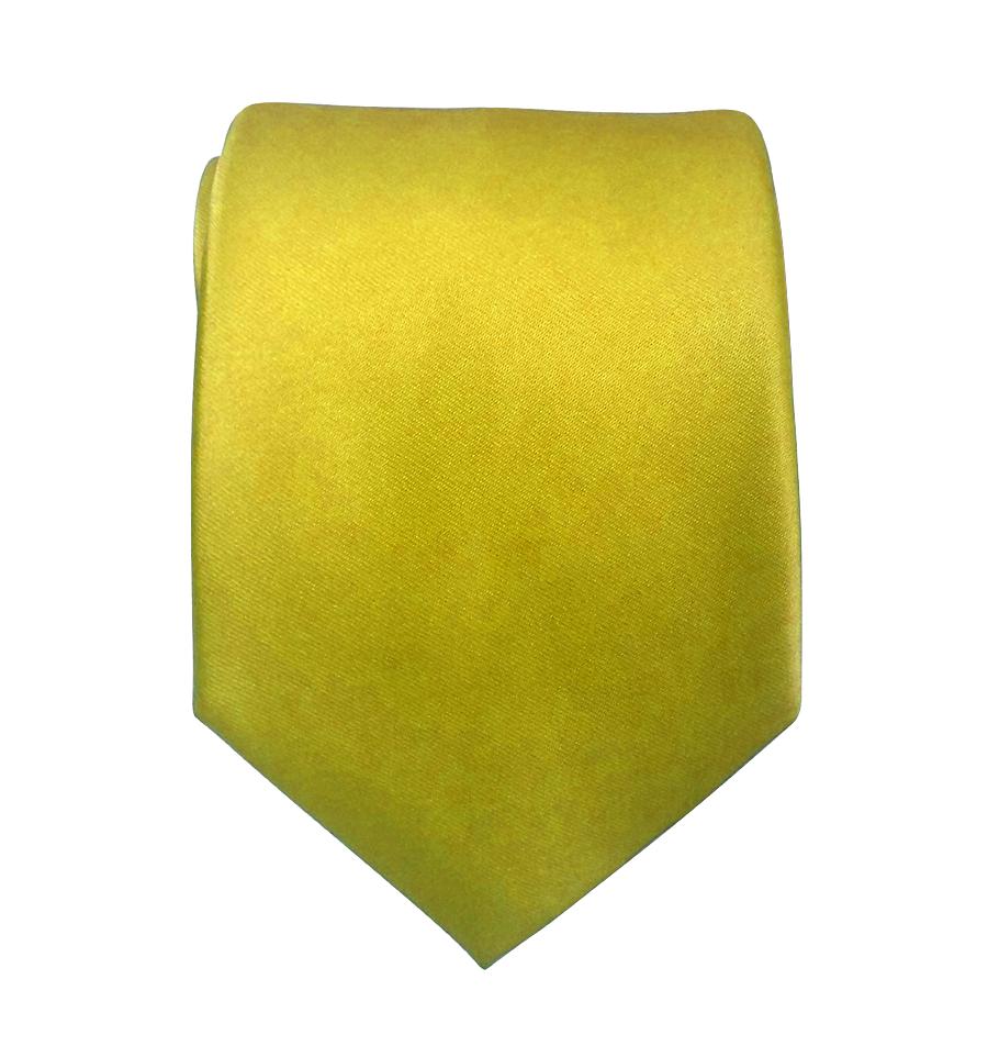 Corbata Lisa Amarilla
