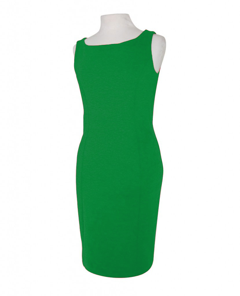 vestido verde sin mangas