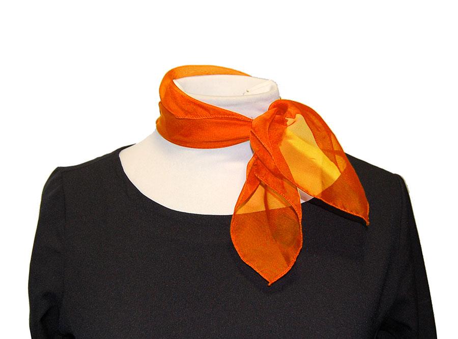 Pañuelo naranja de cuello