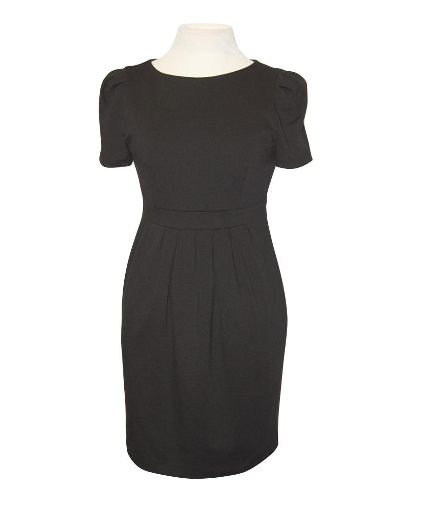 vestido negro de tablas recepcionistas