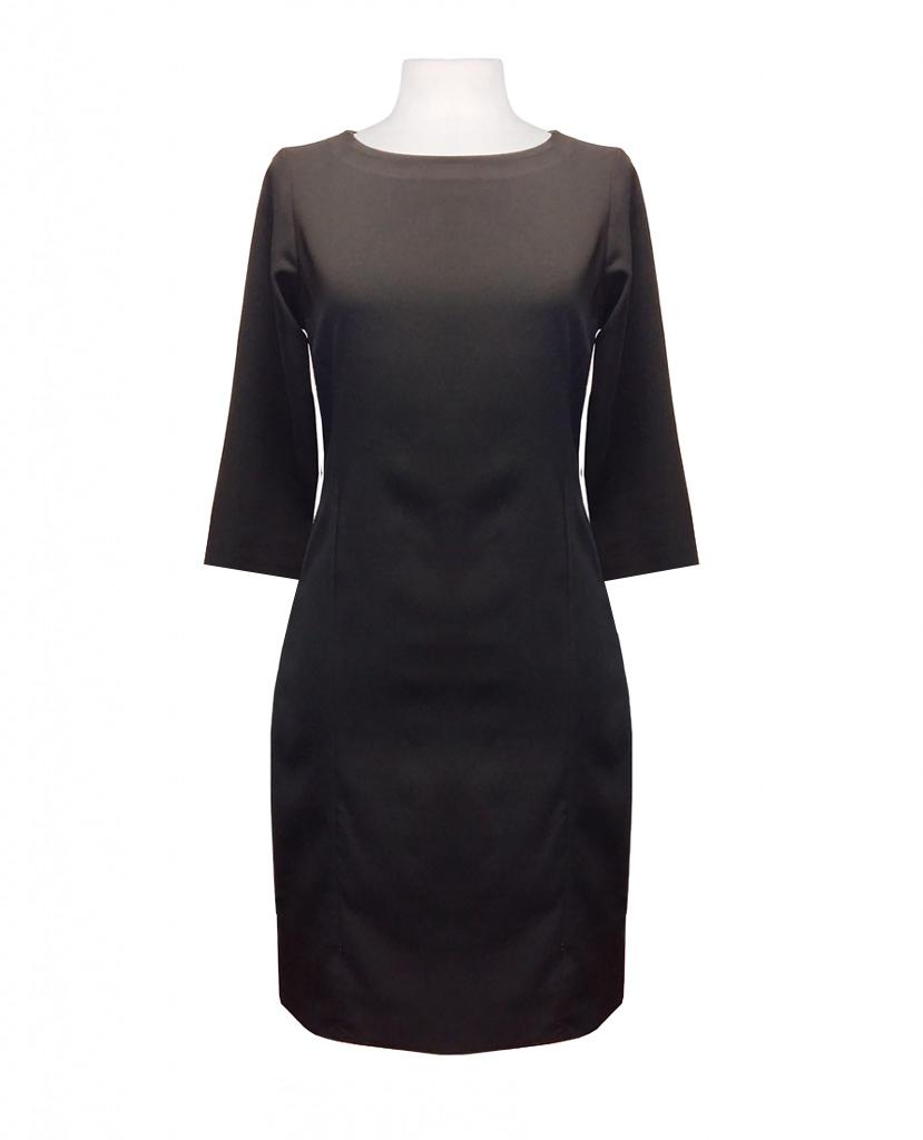 vestido negro con manga francesa
