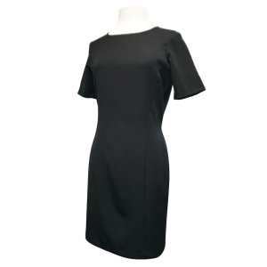Vestido Negro De Manga Corta