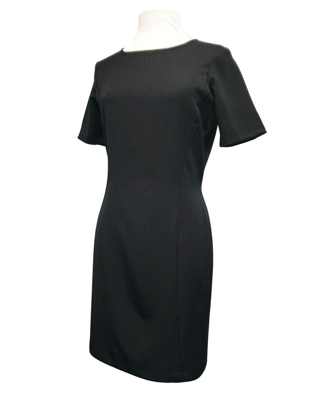 Vestido negro manga francesa