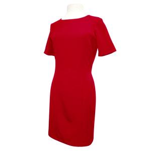 Vestido Rojo De Manga Corta