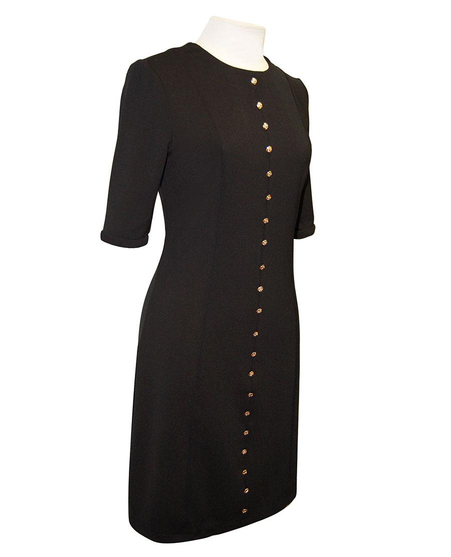 Vestido negro de azafata con botones