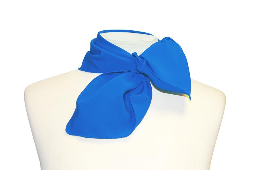 Pañuelo De Cuello Azul Electrico