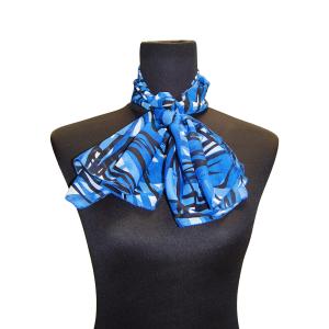 Pañuelo Estampado Azul Oscuro
