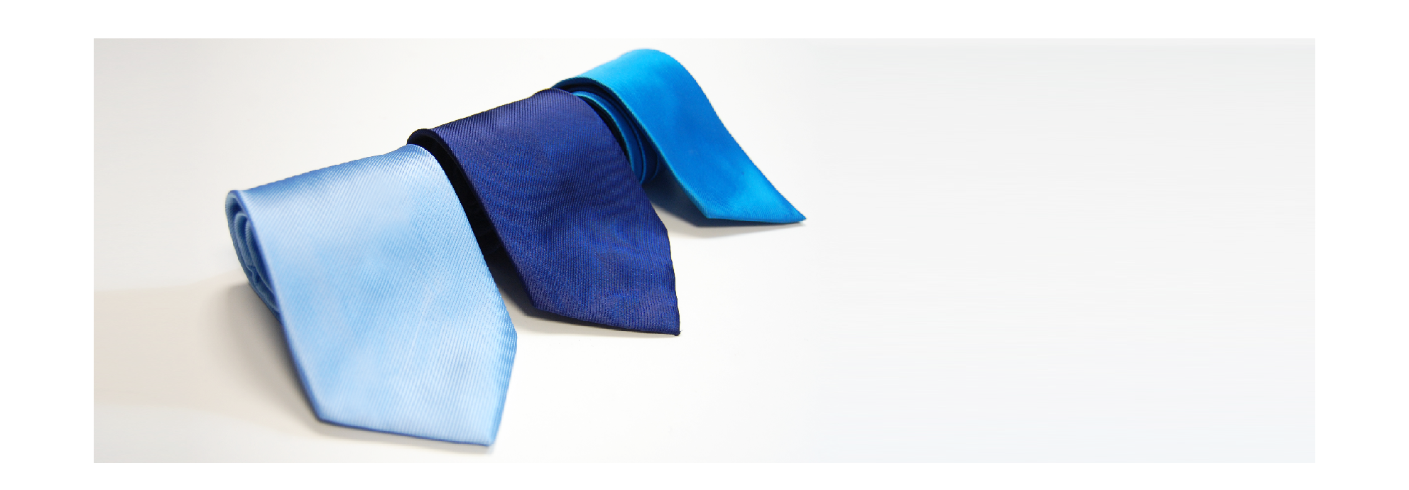 Corbatas tonos azules