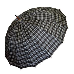 Paraguas Largo De Cuadros Negros