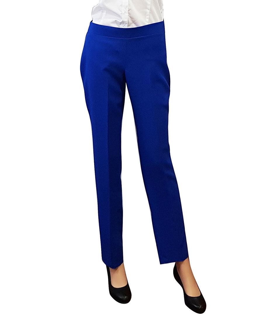Pantalon de azafata azul electrico